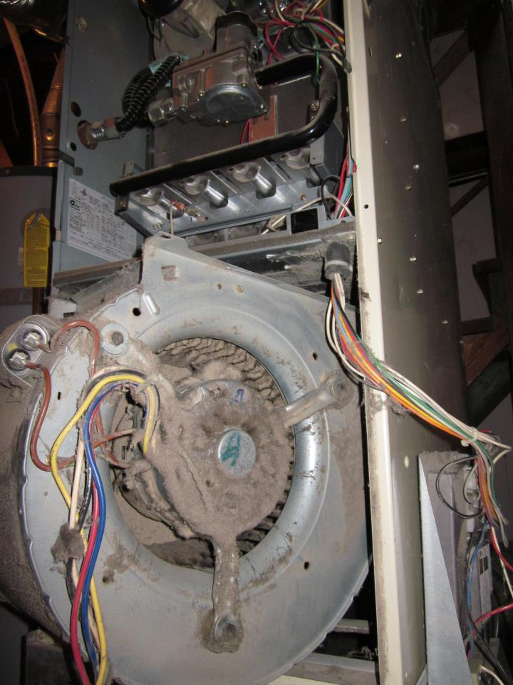 Blower Motor Cleaning On A Gas Furnace Portland Or By