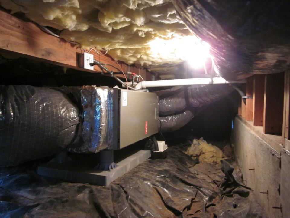 Electric heat oil to electric heat conversion for Crawl space conversion cost