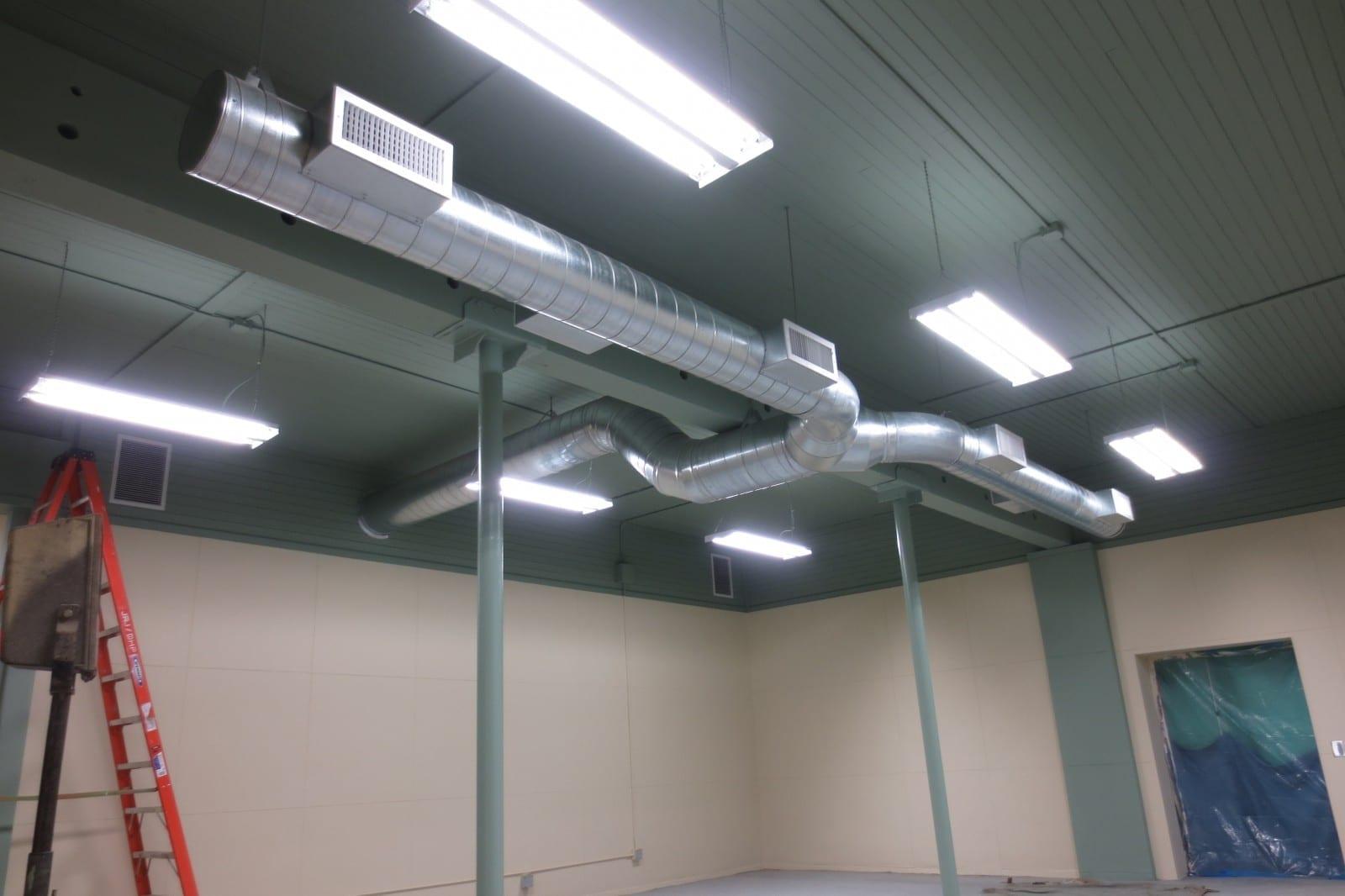 Spiral Ductwork Installation Portland Oregon b Efficiency Heating  #6F3D37