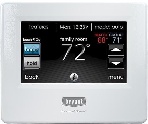 Bryant Evolution Systxbbecw01 Connex Thermostat